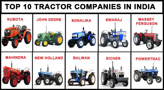 top tractors companies in india